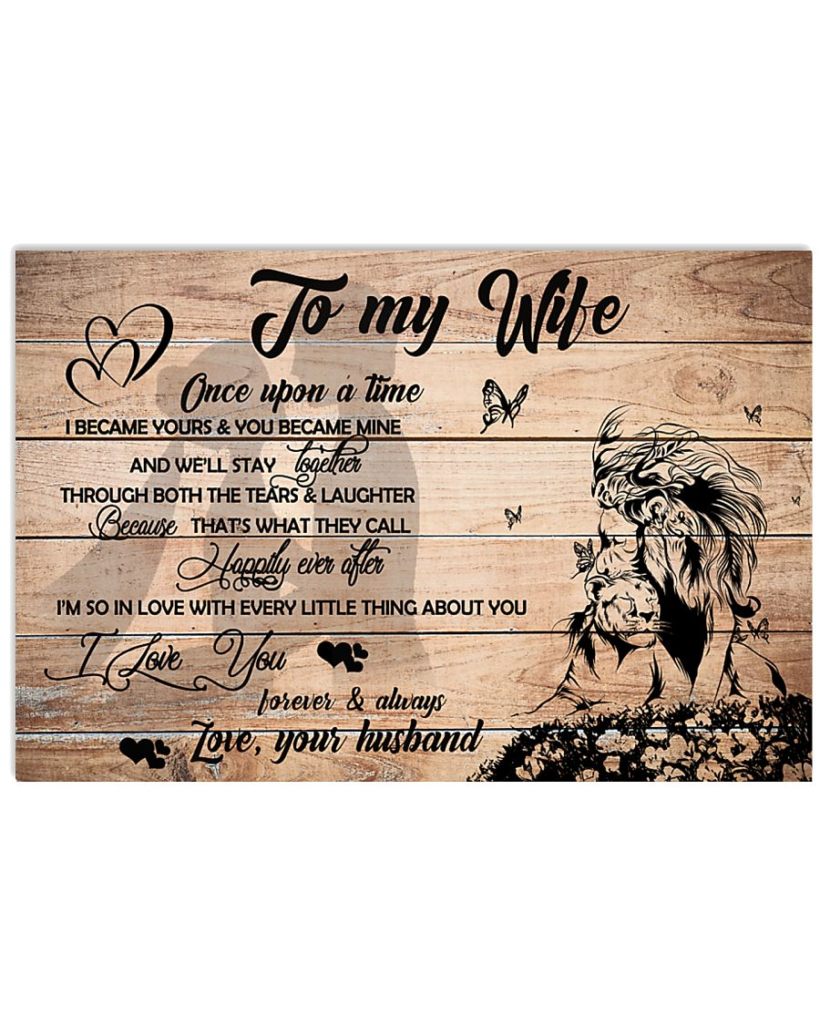 H27 Lion poster - Husband to wife - I love you 17x11 Poster