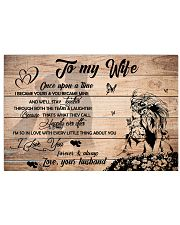 H27 Lion poster - Husband to wife - I love you 17x11 Poster front