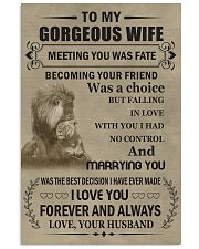 Make it the meaningful message to your wife 11x17 Poster front