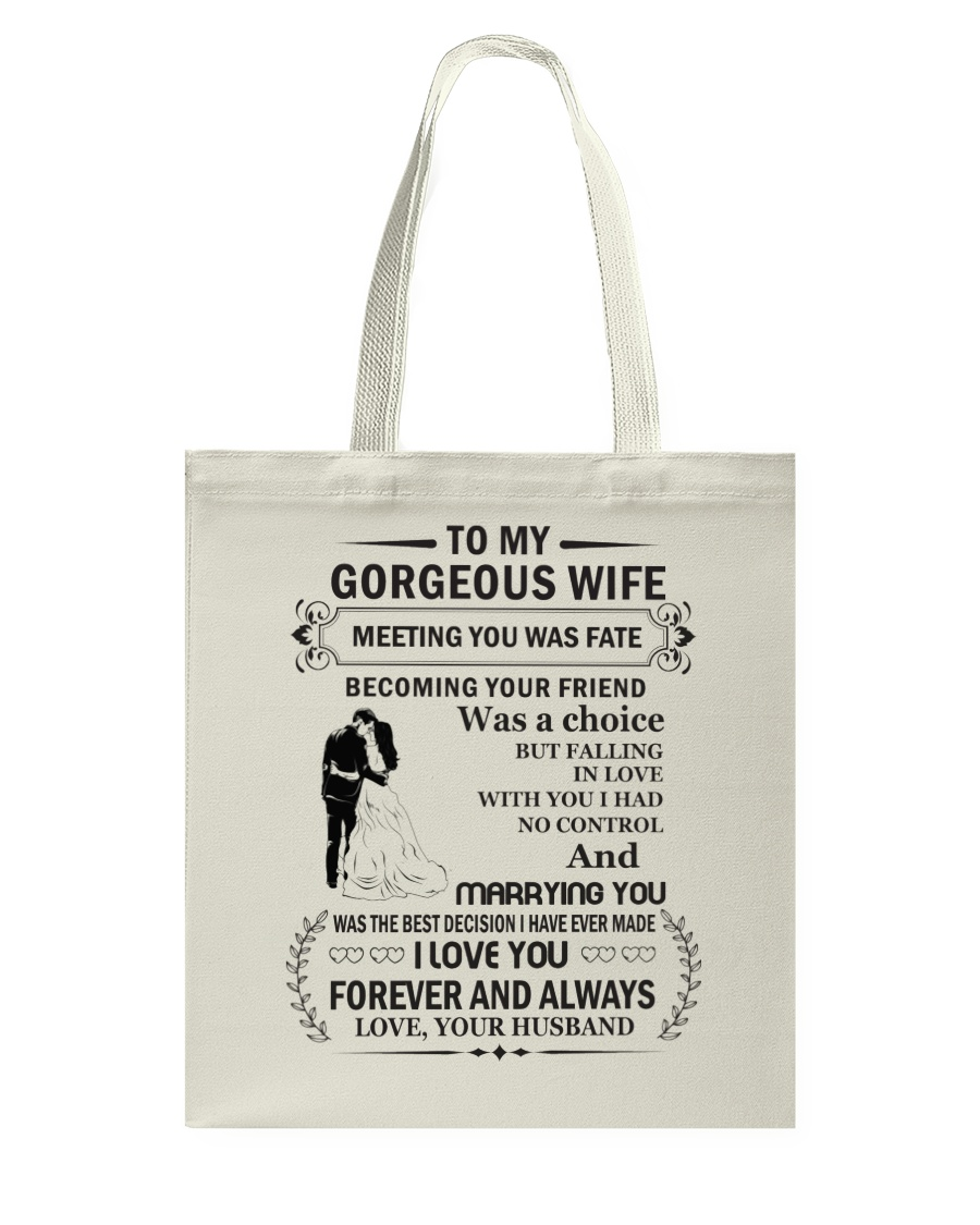 Make it the meaningful message to your wife Tote Bag showcase