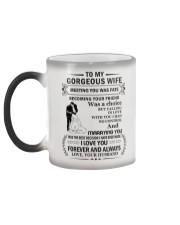 Make it the meaningful message to your wife Color Changing Mug color-changing-left