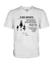 To my children ver FR V-Neck T-Shirt thumbnail