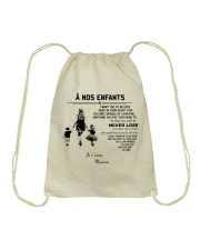 To my children ver FR Drawstring Bag thumbnail