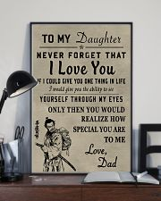 Make it the meaningful message to your daughter 24x36 Poster lifestyle-poster-2