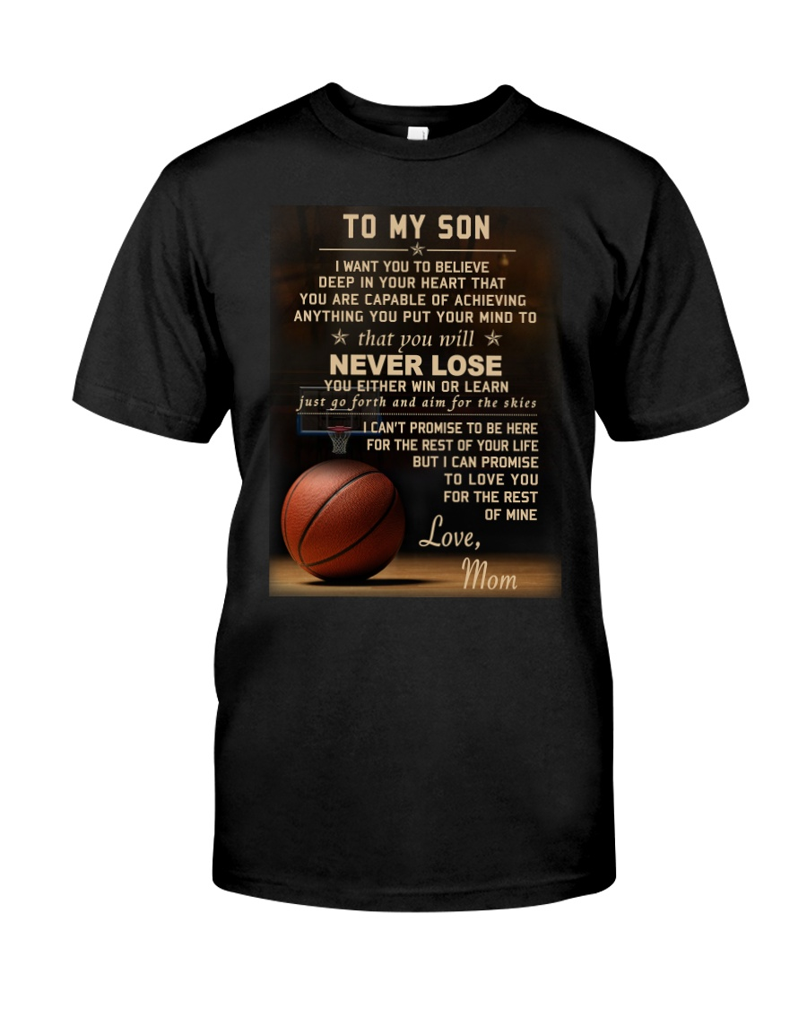 The meaningful message to your son -Basketball Premium Fit Mens Tee