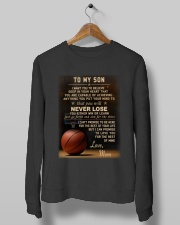 The meaningful message to your son -Basketball Crewneck Sweatshirt lifestyle-unisex-sweatshirt-front-10