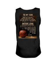 The meaningful message to your son -Basketball Unisex Tank back