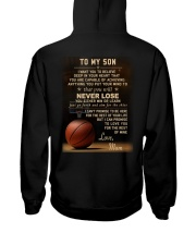 The meaningful message to your son -Basketball Hooded Sweatshirt back