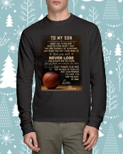The meaningful message to your son -Basketball Long Sleeve Tee lifestyle-holiday-longsleeves-front-1