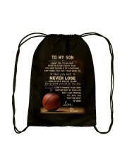 The meaningful message to your son -Basketball Drawstring Bag back