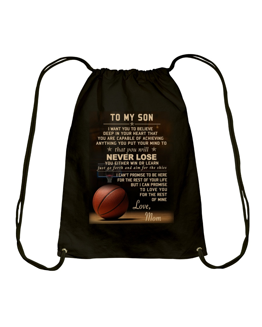 The meaningful message to your son -Basketball Drawstring Bag