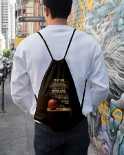 The meaningful message to your son -Basketball Drawstring Bag lifestyle-drawstringbag-front-1