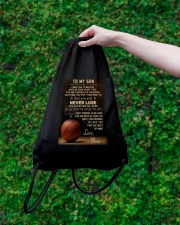 The meaningful message to your son -Basketball Drawstring Bag lifestyle-drawstringbag-front-3