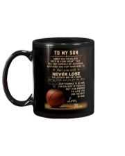 The meaningful message to your son -Basketball Mug back