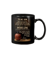 The meaningful message to your son -Basketball Mug tile