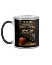 The meaningful message to your son -Basketball Color Changing Mug color-changing-left