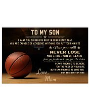 The meaningful message to your son -Basketball 24x16 Poster front