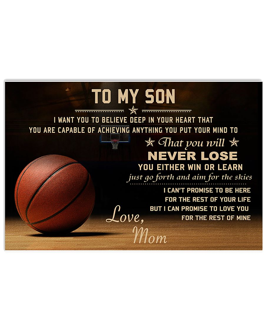 The meaningful message to your son -Basketball 36x24 Poster