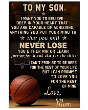 The meaningful message to your son -Basketball 11x17 Poster front