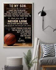 The meaningful message to your son -Basketball 11x17 Poster lifestyle-poster-1
