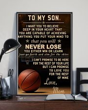 The meaningful message to your son -Basketball 11x17 Poster lifestyle-poster-2