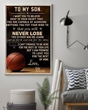 The meaningful message to your son -Basketball 24x36 Poster lifestyle-poster-1