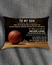 The meaningful message to your son -Basketball Rectangular Pillowcase aos-pillow-rectangle-front-lifestyle-1