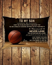 The meaningful message to your son -Basketball Rectangular Pillowcase aos-pillow-rectangle-front-lifestyle-2