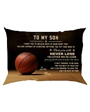 The meaningful message to your son -Basketball Rectangular Pillowcase back