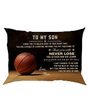 The meaningful message to your son -Basketball Rectangular Pillowcase tile