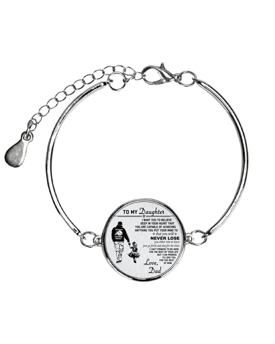 Make it the meaningful message to your daughter Metallic Circle Bracelet