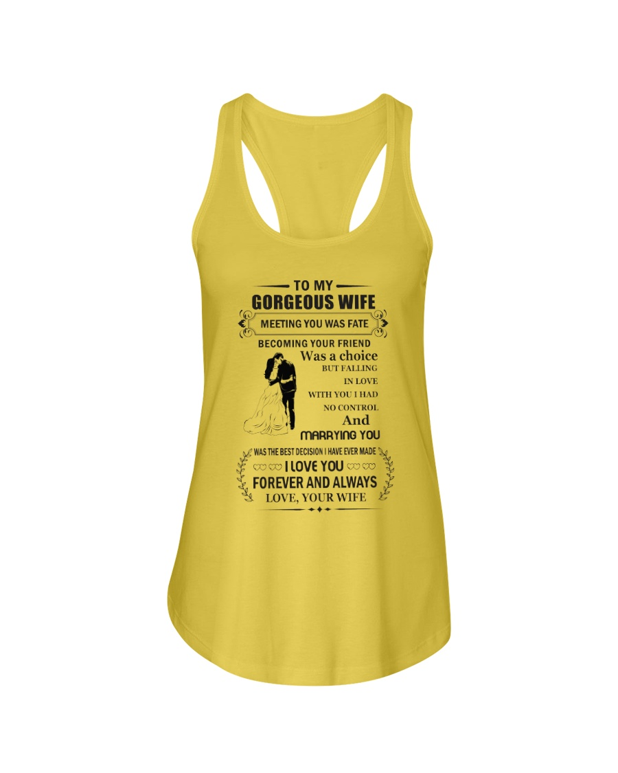Make it the meaningful message to your wife Ladies Flowy Tank