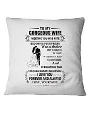 Make it the meaningful message to your wife Square Pillowcase tile
