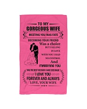 Make it the meaningful message to your wife Hand Towel tile