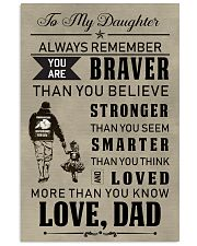 Make it the meaningful message to your daughter 11x17 Poster front