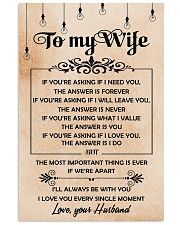 H19 Family poster - Husband to wife - The answer 11x17 Poster front