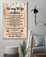 H19 Family poster - Husband to wife - The answer 11x17 Poster lifestyle-poster-1