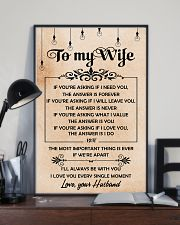 H19 Family poster - Husband to wife - The answer 11x17 Poster lifestyle-poster-2