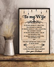H19 Family poster - Husband to wife - The answer 11x17 Poster lifestyle-poster-3