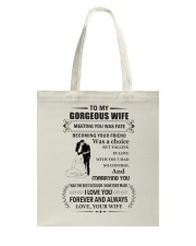 Make it the meaningful message to your wife Tote Bag front