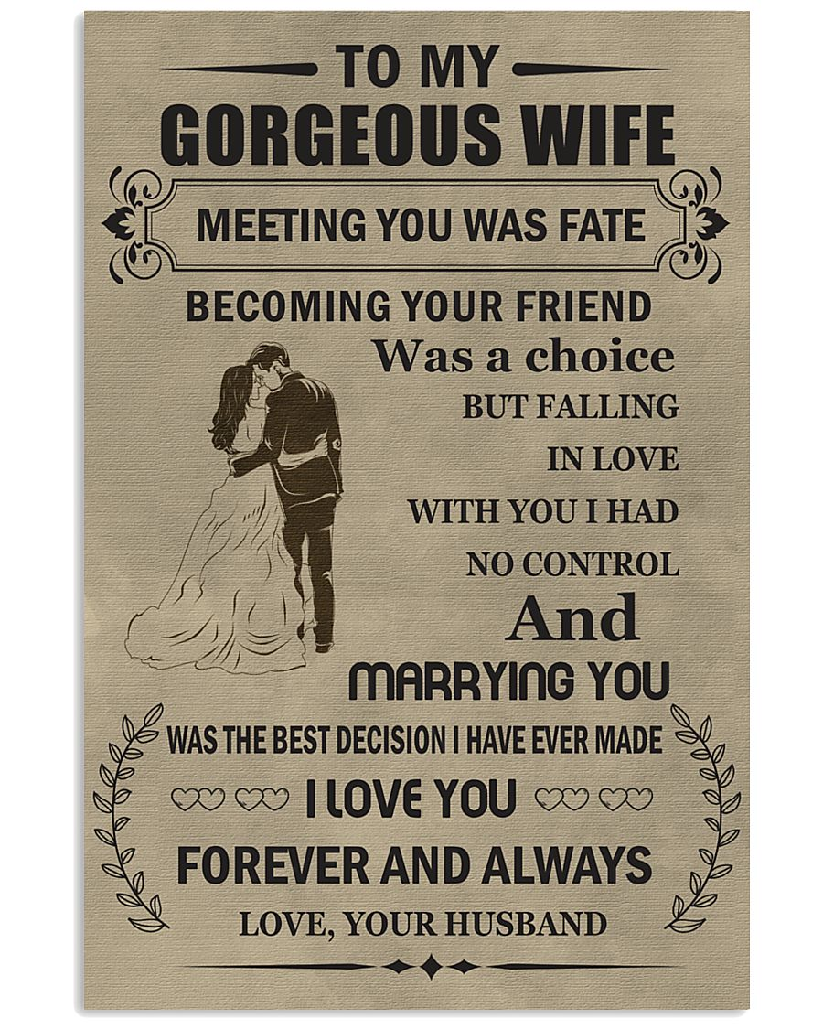 Make it the meaningful message to your wife 11x17 Poster showcase