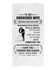 Make it the meaningful message to your wife Beach Towel tile