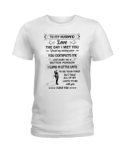 Make it the meaningful message to your husband  Ladies T-Shirt thumbnail