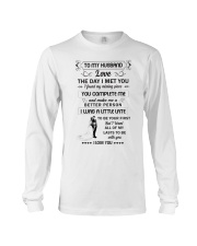 Make it the meaningful message to your husband  Long Sleeve Tee thumbnail