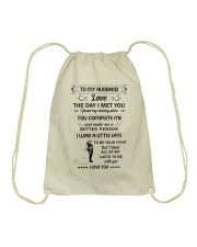 Make it the meaningful message to your husband  Drawstring Bag thumbnail