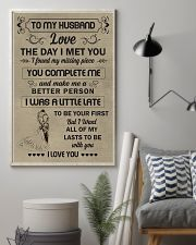 Make it the meaningful message to your husband  11x17 Poster lifestyle-poster-1