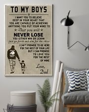 Make it the meaningful message to your boys 11x17 Poster lifestyle-poster-1