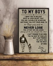 Make it the meaningful message to your boys 11x17 Poster lifestyle-poster-3