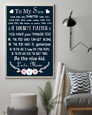 Make it the meaningful message to your son 16x24 Poster lifestyle-poster-1