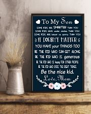 Make it the meaningful message to your son 16x24 Poster lifestyle-poster-3